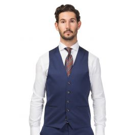 Madrid Navy Blue Vest | Tuggl