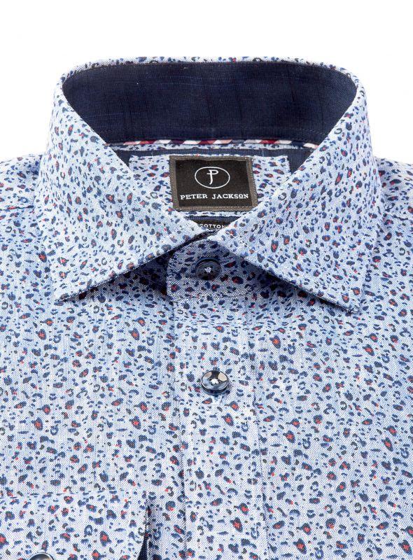ec42f53f5d1 Indigo Animal Print Shirt