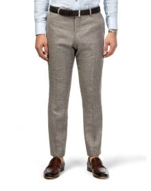 Taupe Messina Wool Linen Trousers