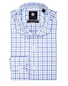 Blue Multi-Gingham Shirt