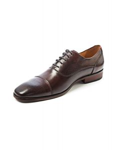 Panelled Brown Oxford Shoe