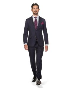 London Windowpane Navy Suit