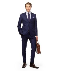 Royal Blue Shadow Overcheck Suit