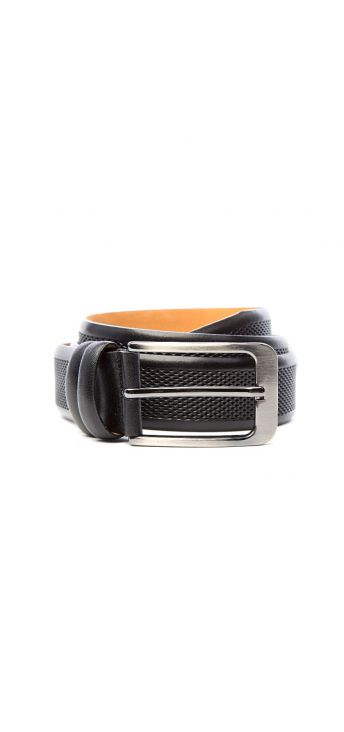 Jet Black Textured Belt