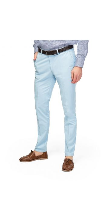Sky Blue Twist Gabardine Chino