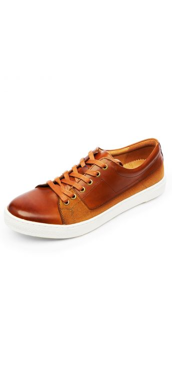 Tan Tailored Sneaker