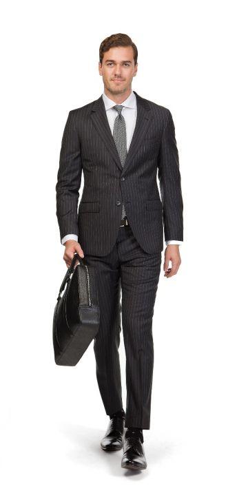 Bradley Charcoal Pinstripe Suit