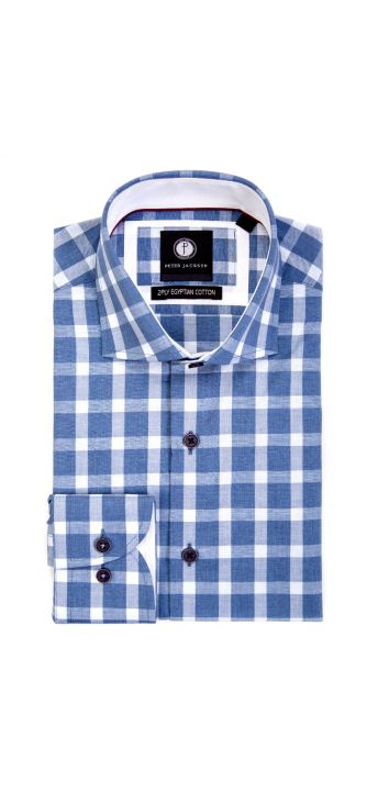 Royal Blue Gingham Shirt