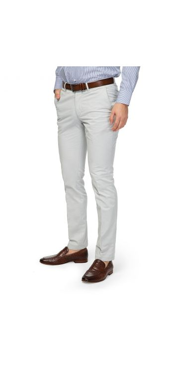 Light Grey Twist Gabardine Chino