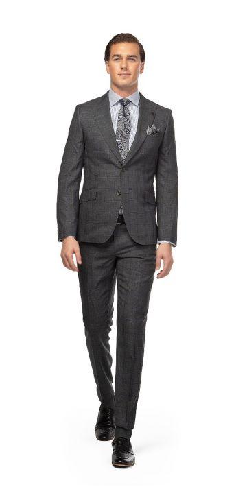 Grey Mouiline Weave Suit