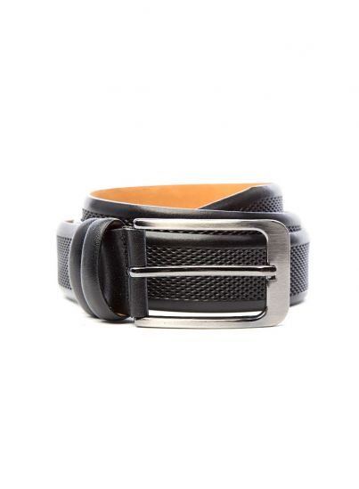 Jet Black Textured Belt