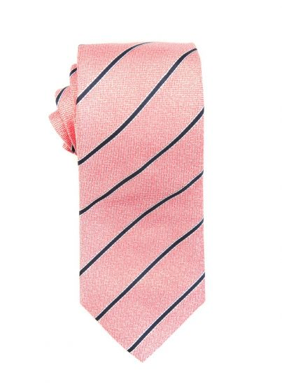 Coral Stripe Tie