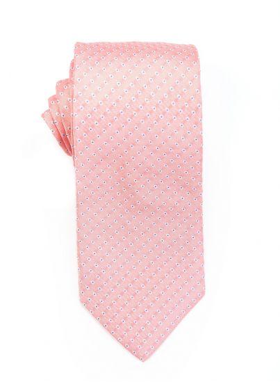 Salmon Pink Polka Dot Tie