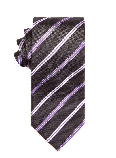 Carbon Violet Repp Tie