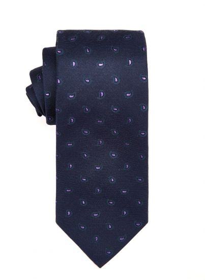 Violet Small Paisley Tie