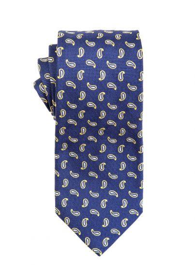 Yellow Micro Paisley Tie