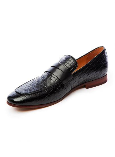 Black Woven Loafer