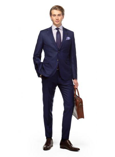 Royal Blue Shadow Overcheck Suit
