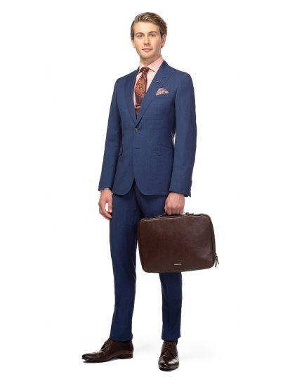 Royal Blue Pow Check Suit
