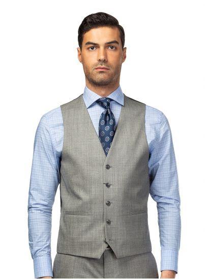 Grey Shark Skin Vest