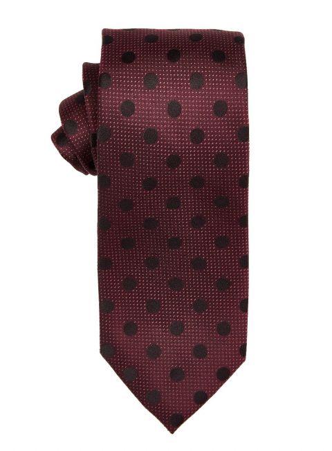 Magenta Large Polka Dot Tie