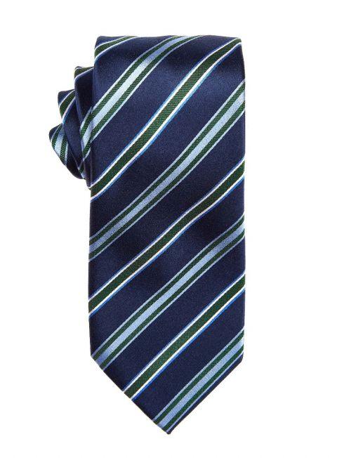 Emerald Green Repp Stripe Tie