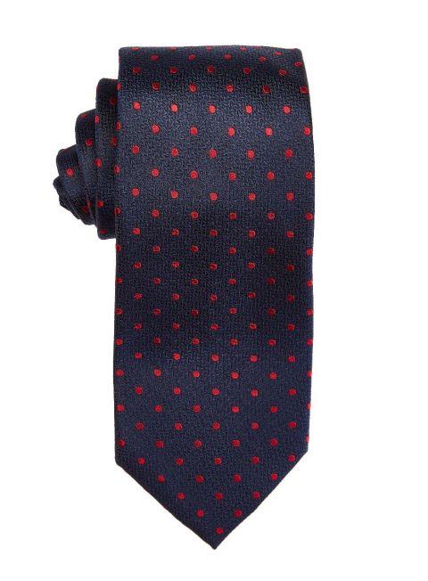 Navy & Ruby Polka Dot Tie